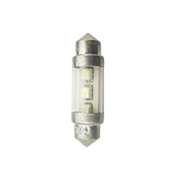 Led Torpedo 28mm 24v - 02 Leds - Branco (al258) - Autopoli -