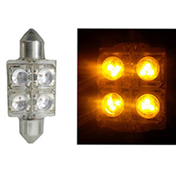 Led Torpedo 36mm 12v - 4 Led 10w - Amarelo (ap170) - Sku: 79