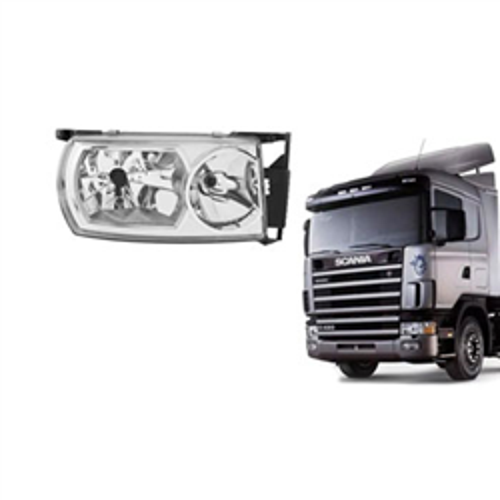 Farol Principal Scania 124 - Lado Esquerdo (f355) - Nino - P