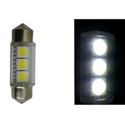 Led Torpedo 39mm 12v - 3 Led - Branco (l22193912v) - Ledias