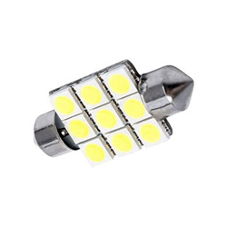 Led Torpedo 41mm 12v - 09 Leds - Branco (led00310) - Ciberlu