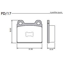 Pastilha Freio Pd1788 - Dianteira (pd17) - Sku: P49206 PASSAT / GOL