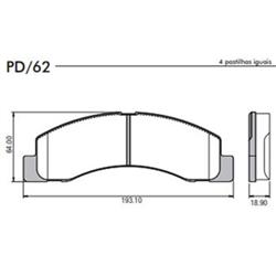 Pastilha Freio Pd963 (pd62) - Frasle - Jogo - ford F250 d