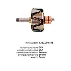 Rotor Alternador Scania - 35a 24v (r3560) - Cae1 - Peça -