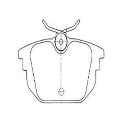 Pastilha Freio (1197) - Syl - Jogo - alfa Romeo 145 de 19