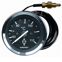 Relógio Mercúrio Temperatura Água - 60mm - Cabo 4,00m (tur30