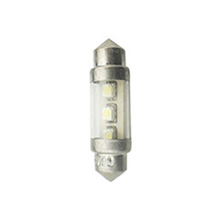 Led Torpedo 28mm 12v - 2 Led 5w - Branco (wfled642912v) - Wf