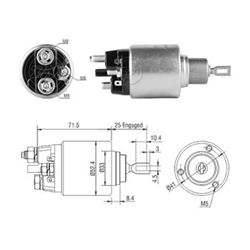 Automático Motor Partida Sprinter - Zm - Peça - mbb Sprin