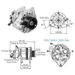 Alternador Ford Gm Mbb 85ah 12v - Zm - Peça - mbb Sprinte