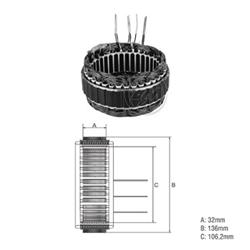 Estator Alternador L200 Pajero - Peça - mitsubishi L200 d