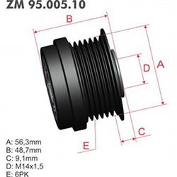 Polia Alternador Decoupler Gm Zm9500510 - Zm - Peça - gm
