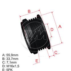 Polia Alternador Roda Livre Audi Vw - Zm - Peça - audi A4