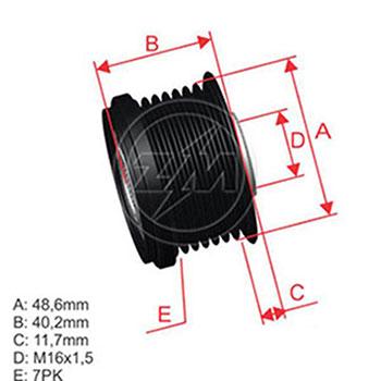 Polia Alternador Roda Livre Master 2012 Em Diante Zm9601208