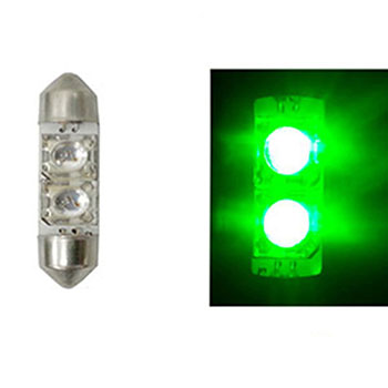 LED Torpedo 36MM 12V - 2 LED 5W - Verde (AP386) - AUTOPOLI -