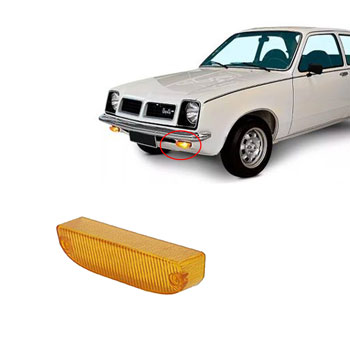 Lente Lanterna Dianteira CHEVETTE 1973 até 1982 - Amarelo (P