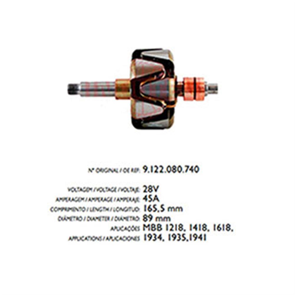 Rotor Alternador Mbb 1218 1941 - 45a 24v (r3579) - Cae1 - Pe