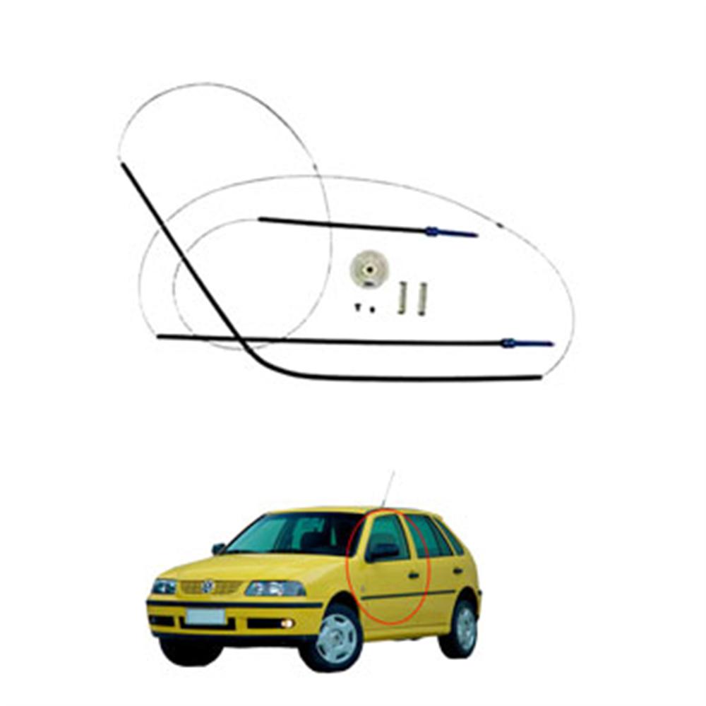 Kit Reparo Máquina Vidro Elétrico Gol Parati Saveiro 1999 até 2006 - 4 Portas - Porta Dianteira - Engrenagem Externa (vp5008) Vp - Kit - Sku: 25762 PARATI / SAVEIRO / GOL