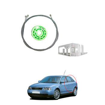 Kit Reparo Máquina Vidro Elétrico AUDI 1998 até 2004 - Porta