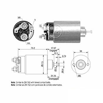 Automático Motor de Partida 12v () - ZM - PEÇA - SKU: ZM1762