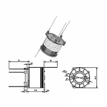 Bobina Reparo do Automático Motor de Partida 12v () - ZM - P