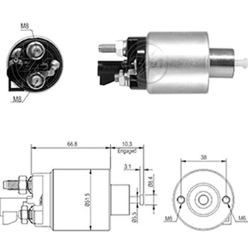 Automático Motor Partida CAPTIVA SUZUKI (ZM5995) - ZM - PEÇA