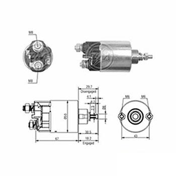 Automático Motor de Partida 12v () - ZM - PEÇA - LAND ROV