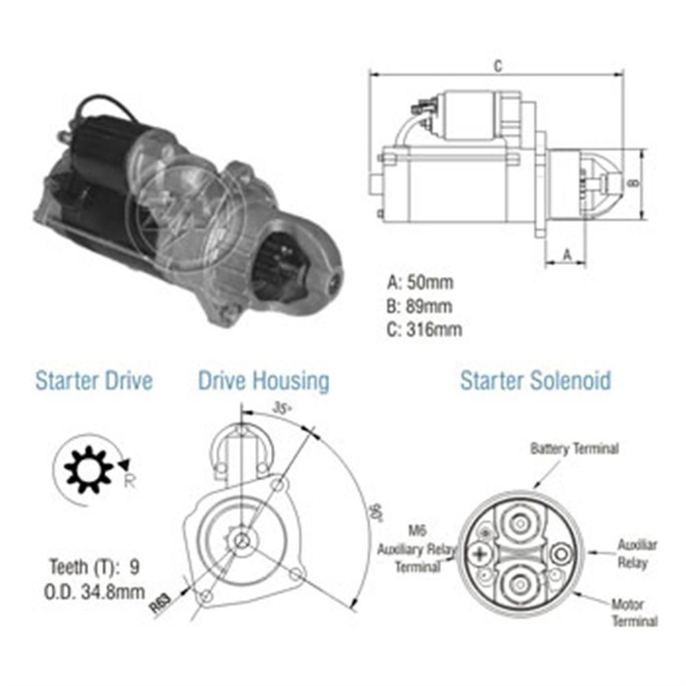Motor Partida Mbb - - Alternativo - Zm - Peça - bmw 530 d
