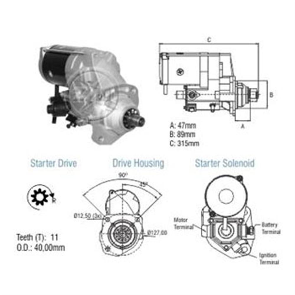 Motor Partida John Deere - - Alternativo - Zm - Peça - bm