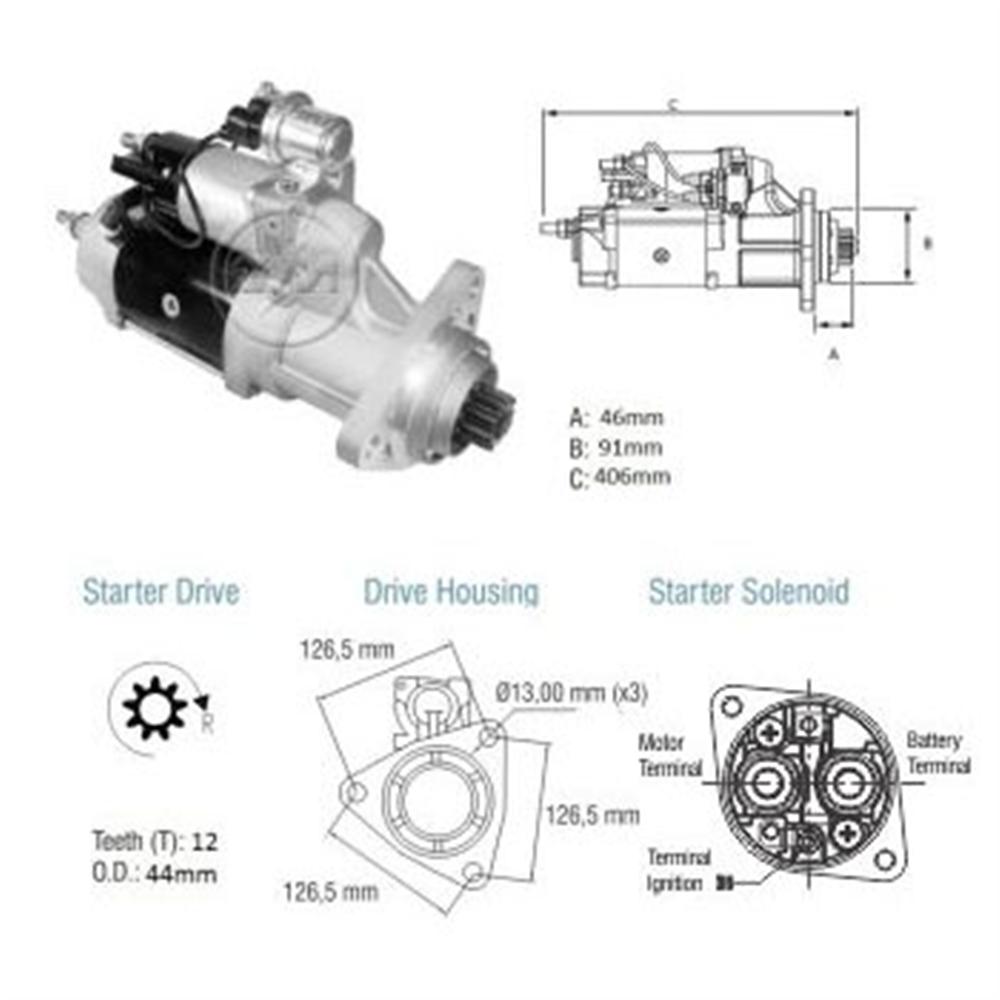 Motor Partida Vw Caminhões - - Alternativo - Zm - Peça -