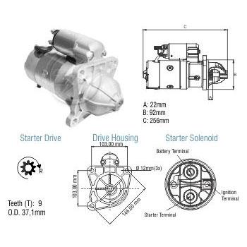 Motor Partida FORD GM MBB - ZM - PEÇA - SKU: ZM8048014