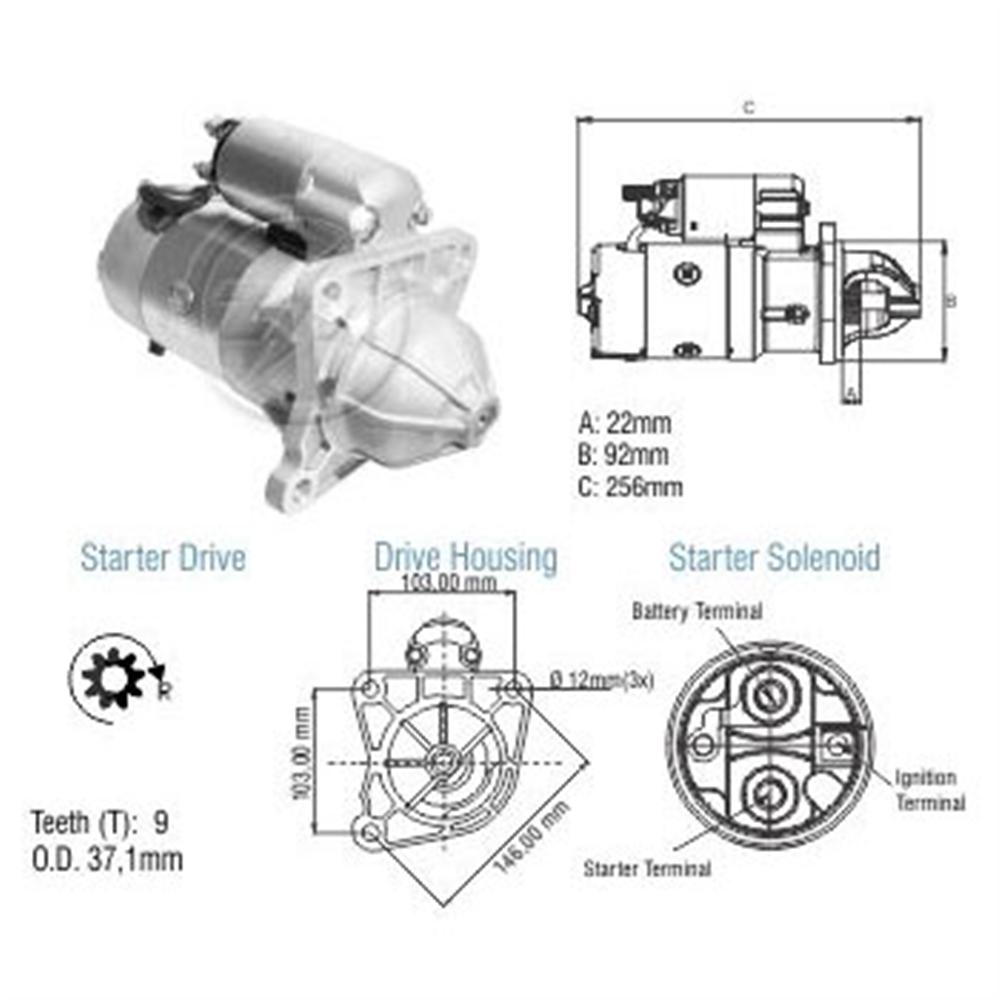 Motor Partida Ford Gm Mbb - - Alternativo - Zm - Peça - Sku: