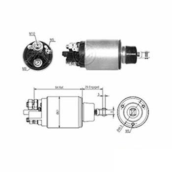 Automático Motor de Partida 12v (zm825) - Zm - Peça - Sku: 44733 NEW HOLLAND / VALTRA / CASE