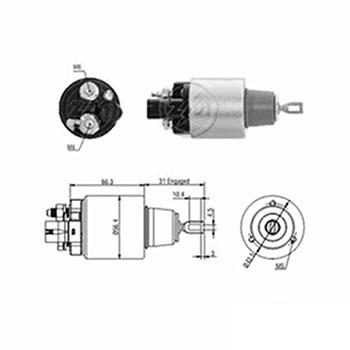 Automático Motor de Partida 12v () - ZM - PEÇA - SKU: ZM979
